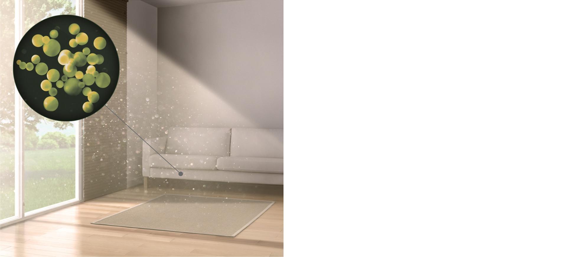 ev tozu partiküllerinin yakından gösterimi