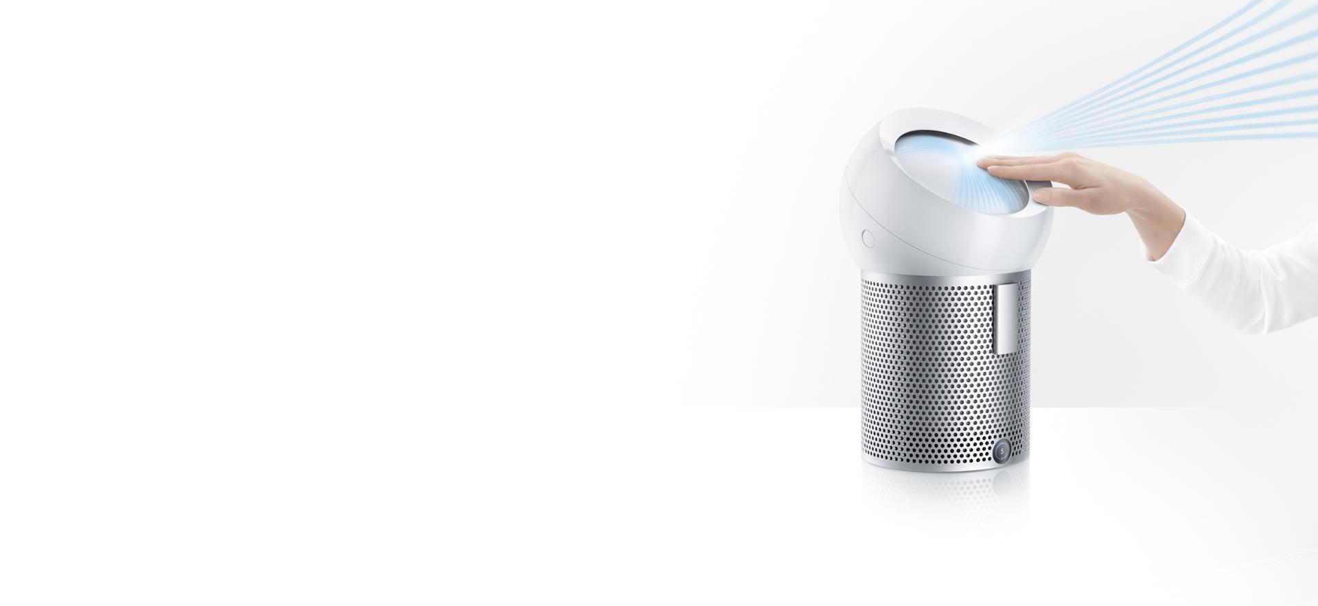 Dyson Pure Cool Me™ odaklanmış temiz havayı dağıtıyor.