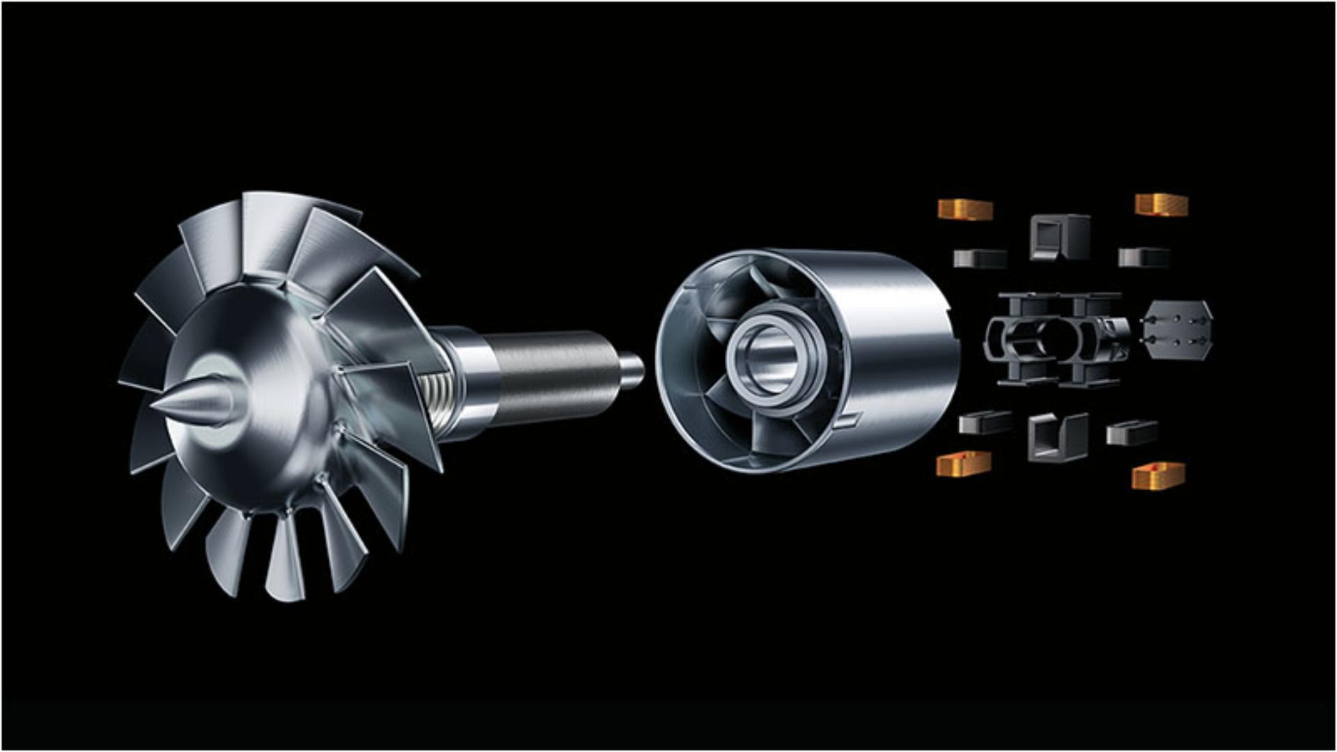 Close-up image of Dyson digital motor V9