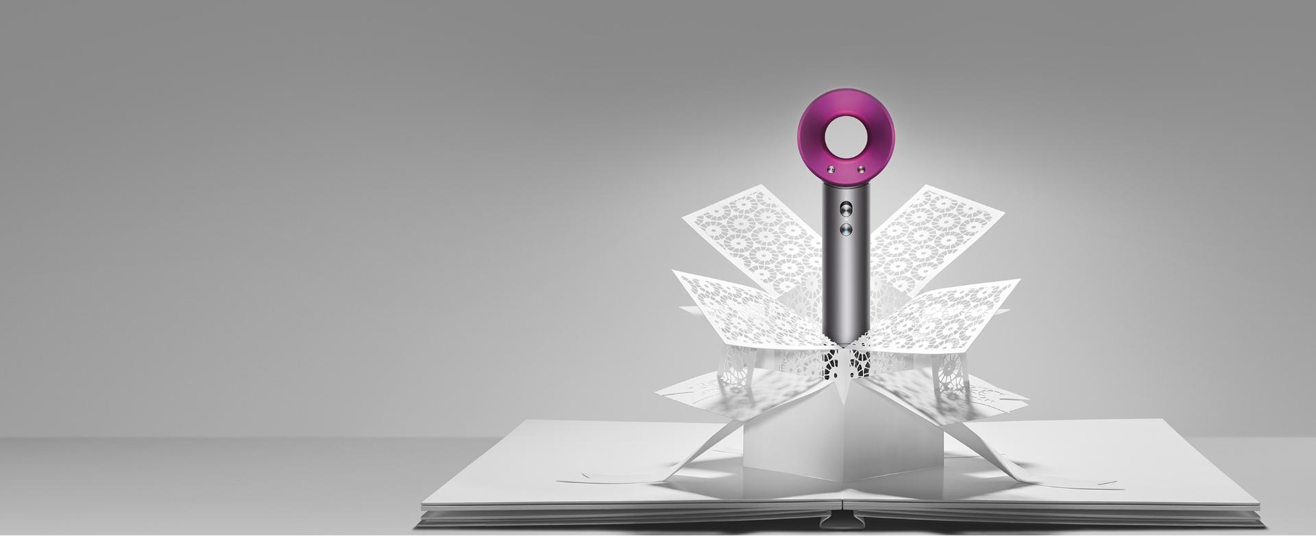Dyson Supersonic™ emerge del arte en papel
