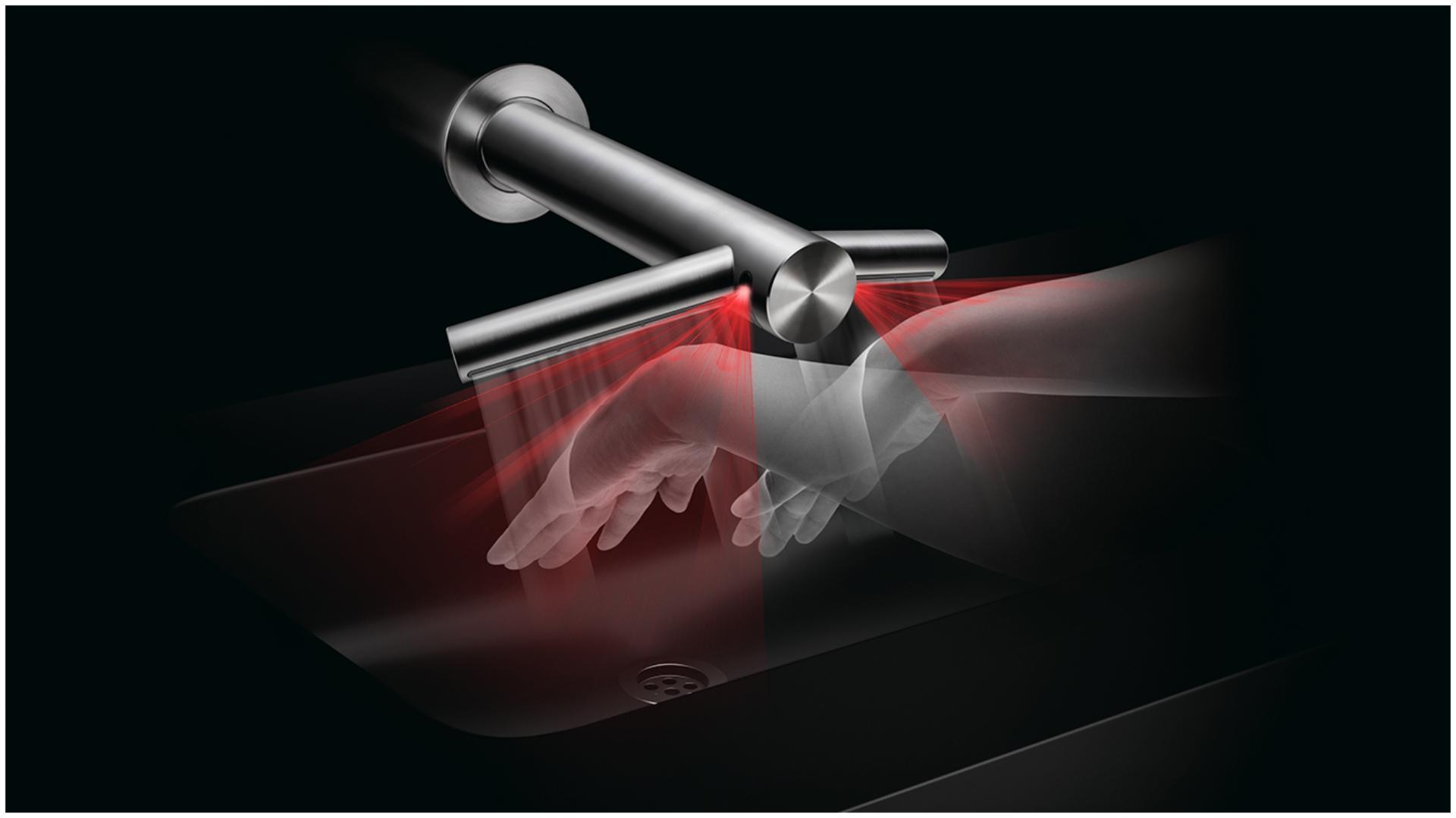 Tehnologia senzorilor de la uscător de mâini Airblade Wash+Dry