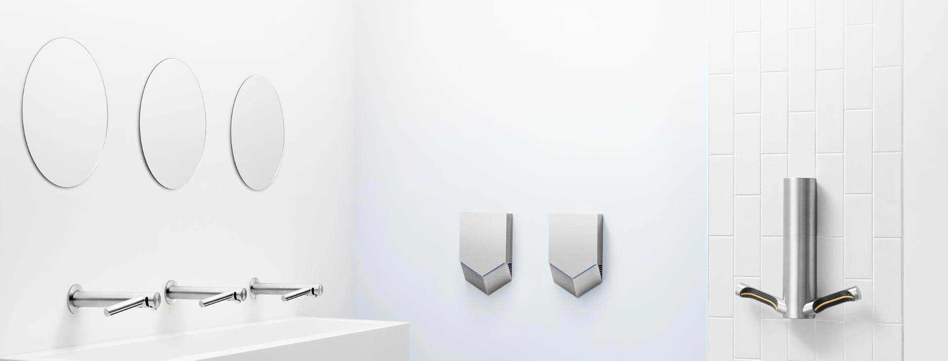 Toaletă cu uscătoare de mâini Dyson Airblade