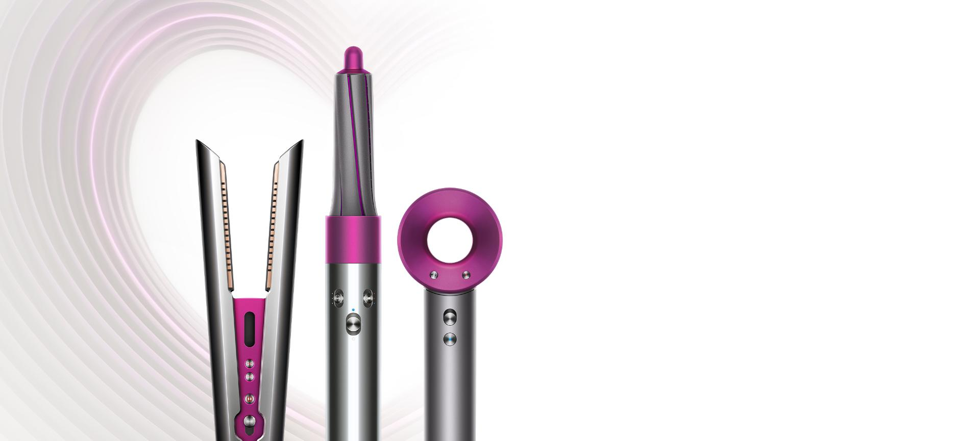 Dyson Supersonic hair dryer, Airwrap styler, Corrale straightener