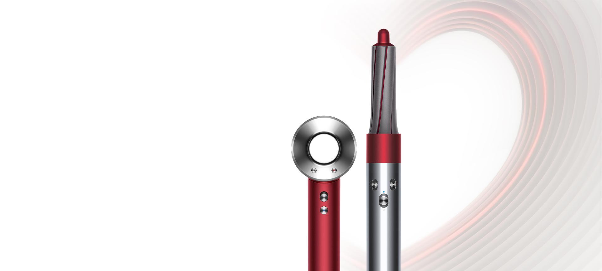 Red edition Dyson Supersonic hair dryer and Dyson Airwrap styler