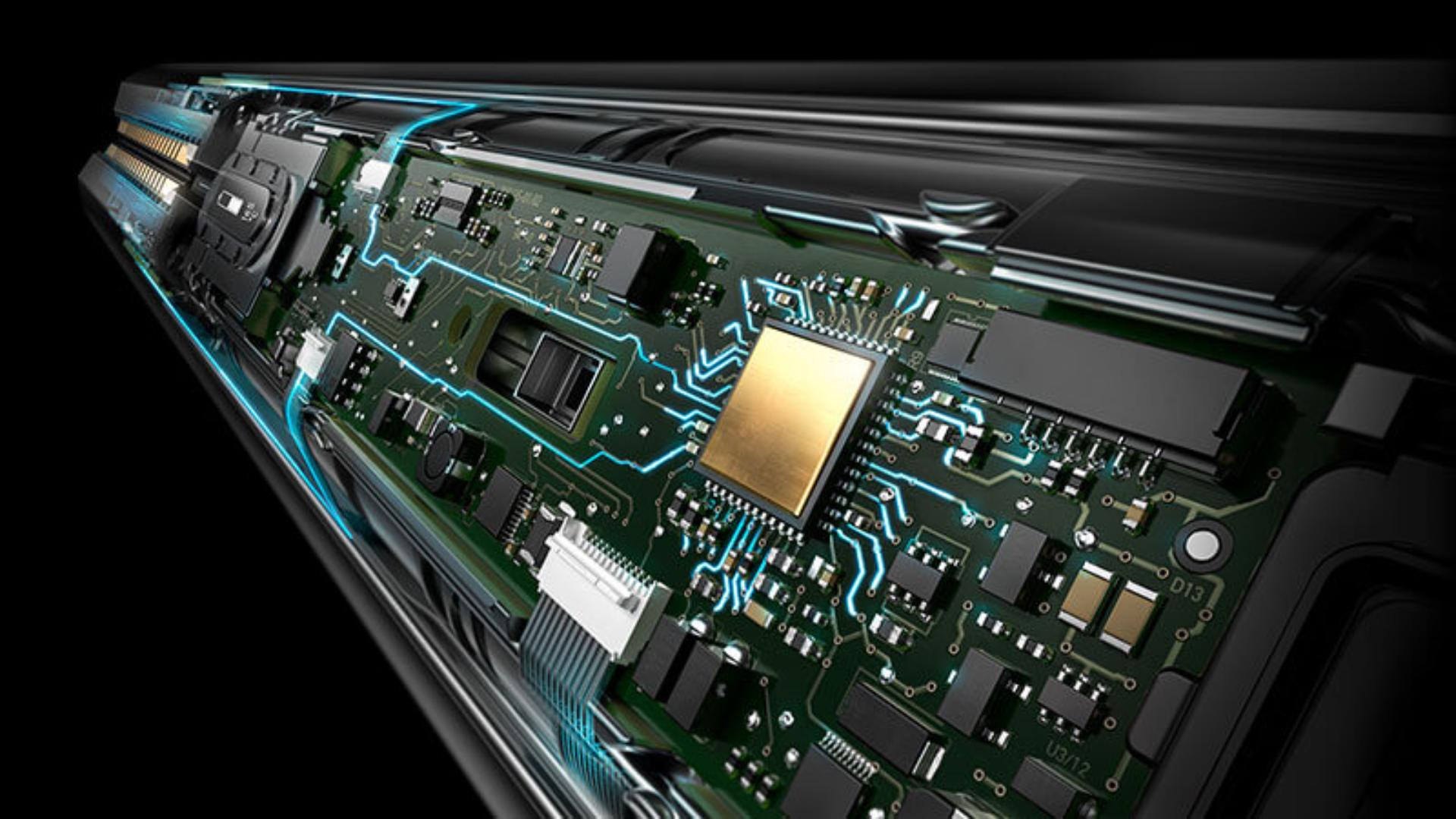 Tech image of intelligent microprocessors