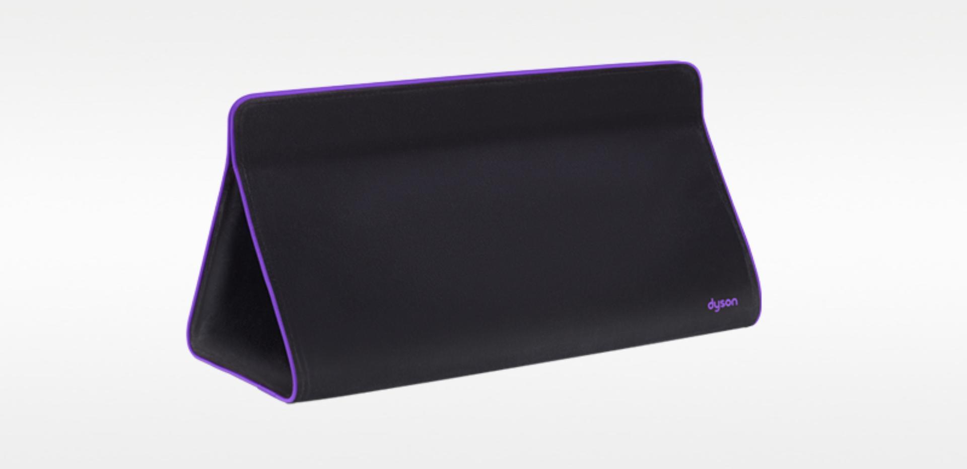 Black and purple Dyson-designed storage bag
