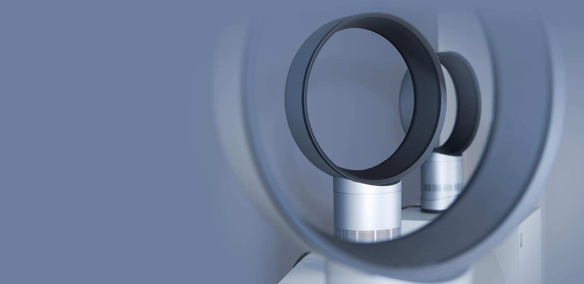 Dyson ventillátorról készült közeli felvétel