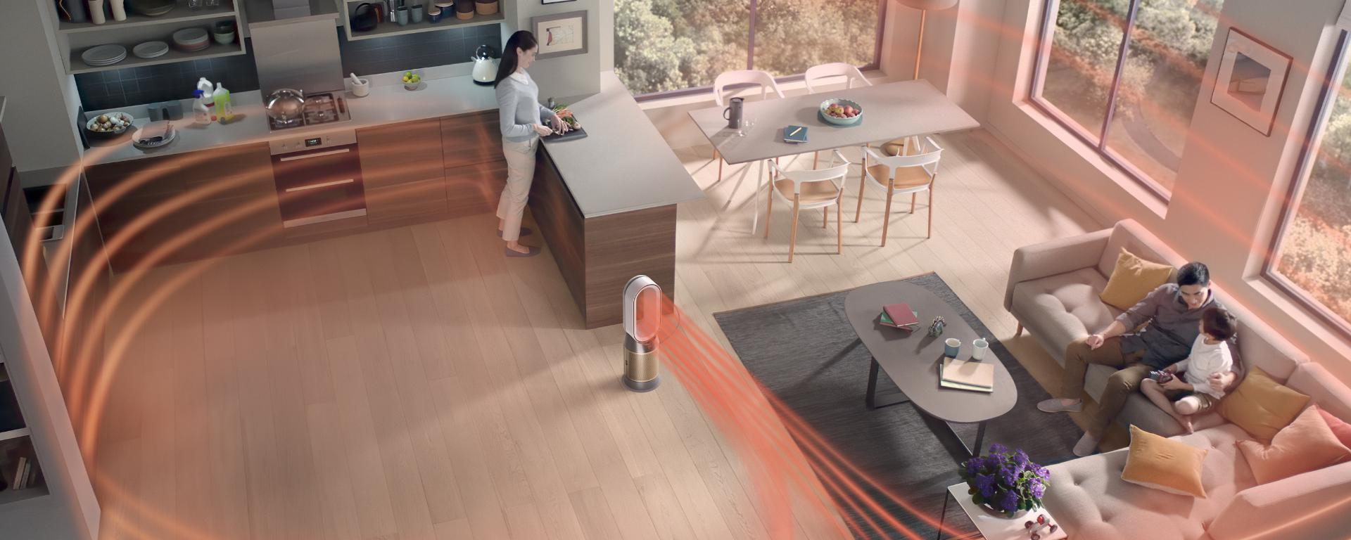 Dyson Purifer in large room