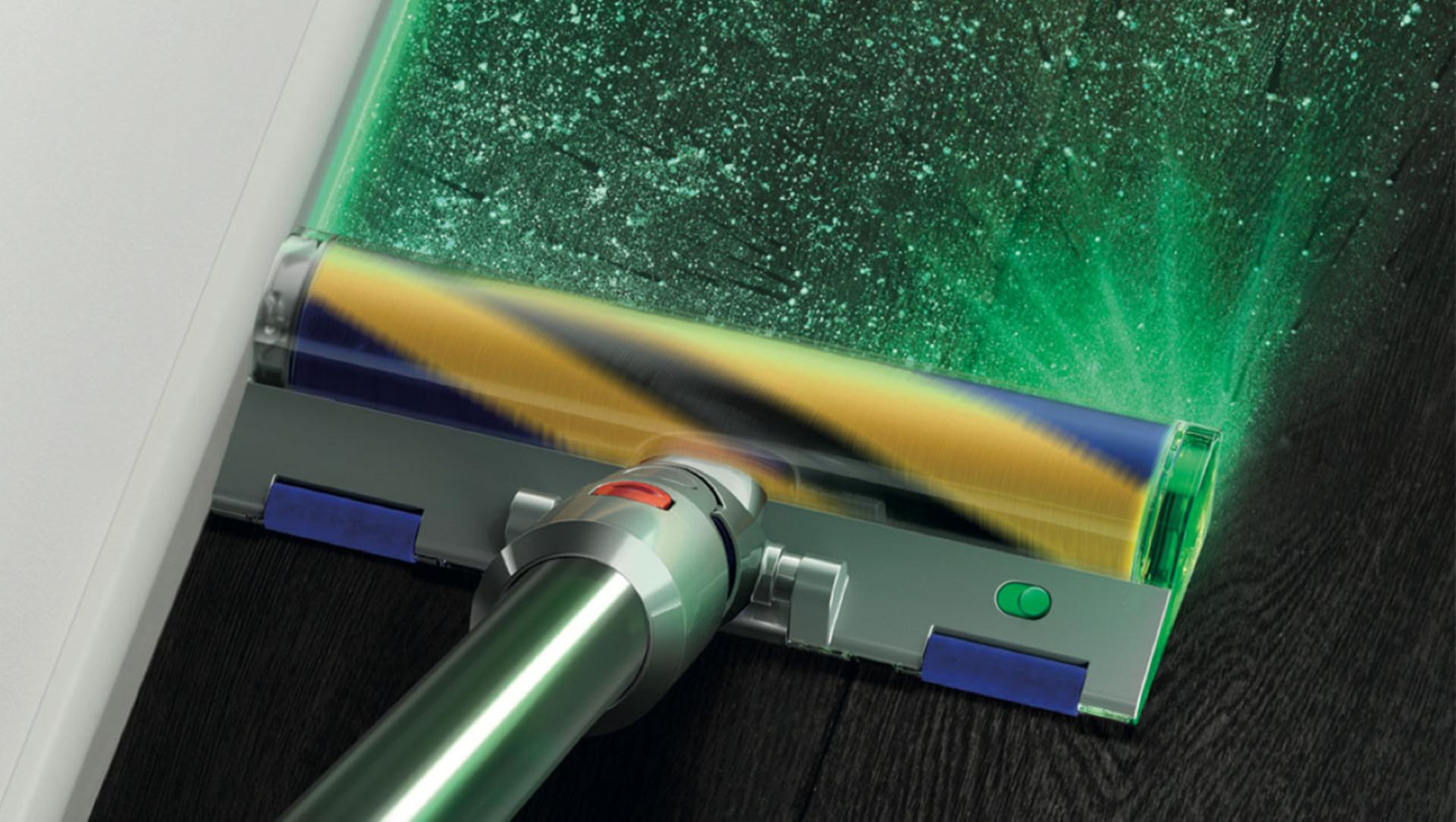 Laser Slim Fluffy™ cleaner head wth green laser