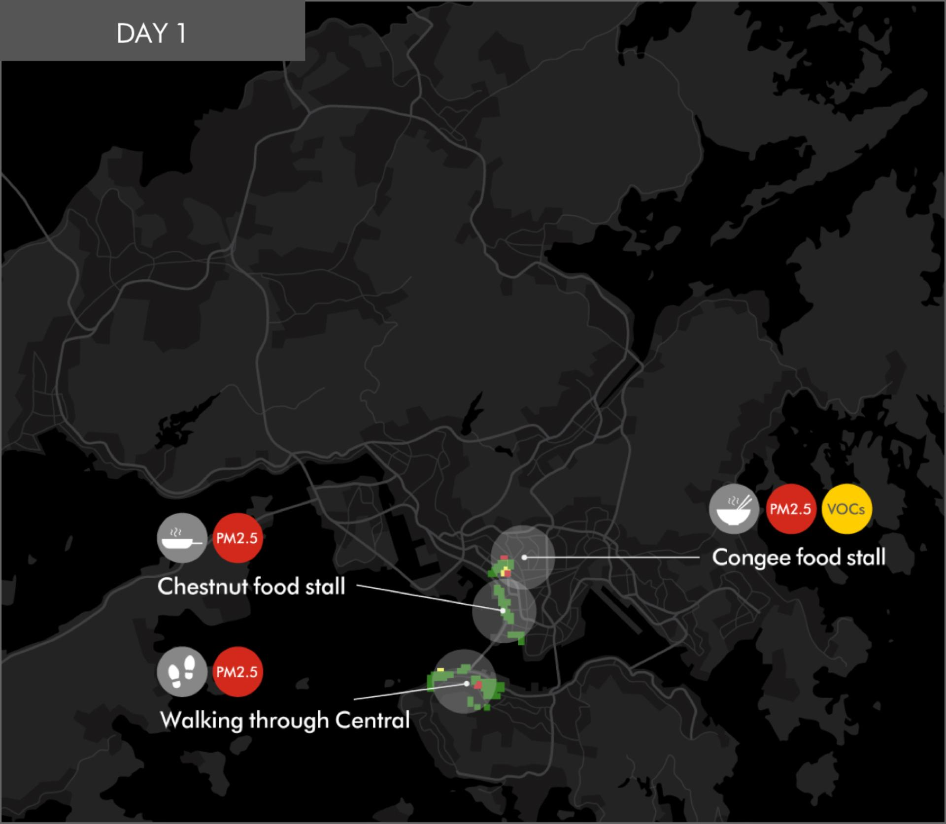 HK map for Melody's Day 1 trip