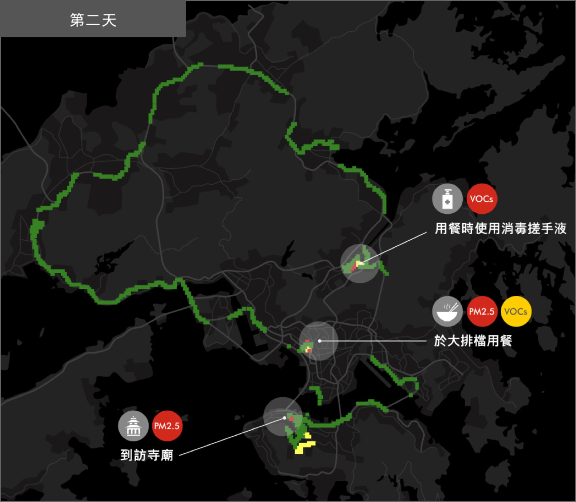 HK map for Melody's Day 2 trip