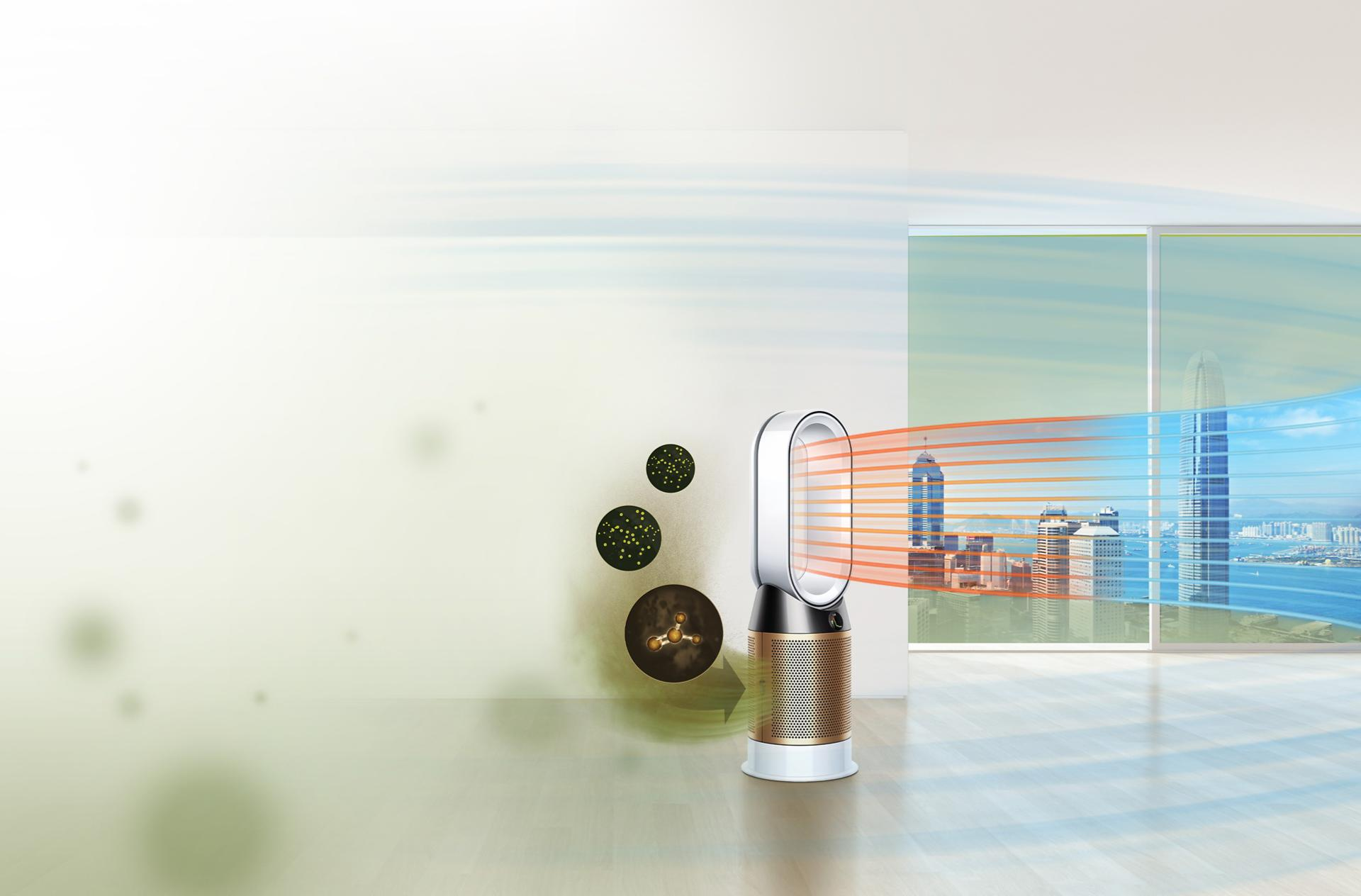 Dyson Pure Hot+Cool Cryptomic projecting purified air