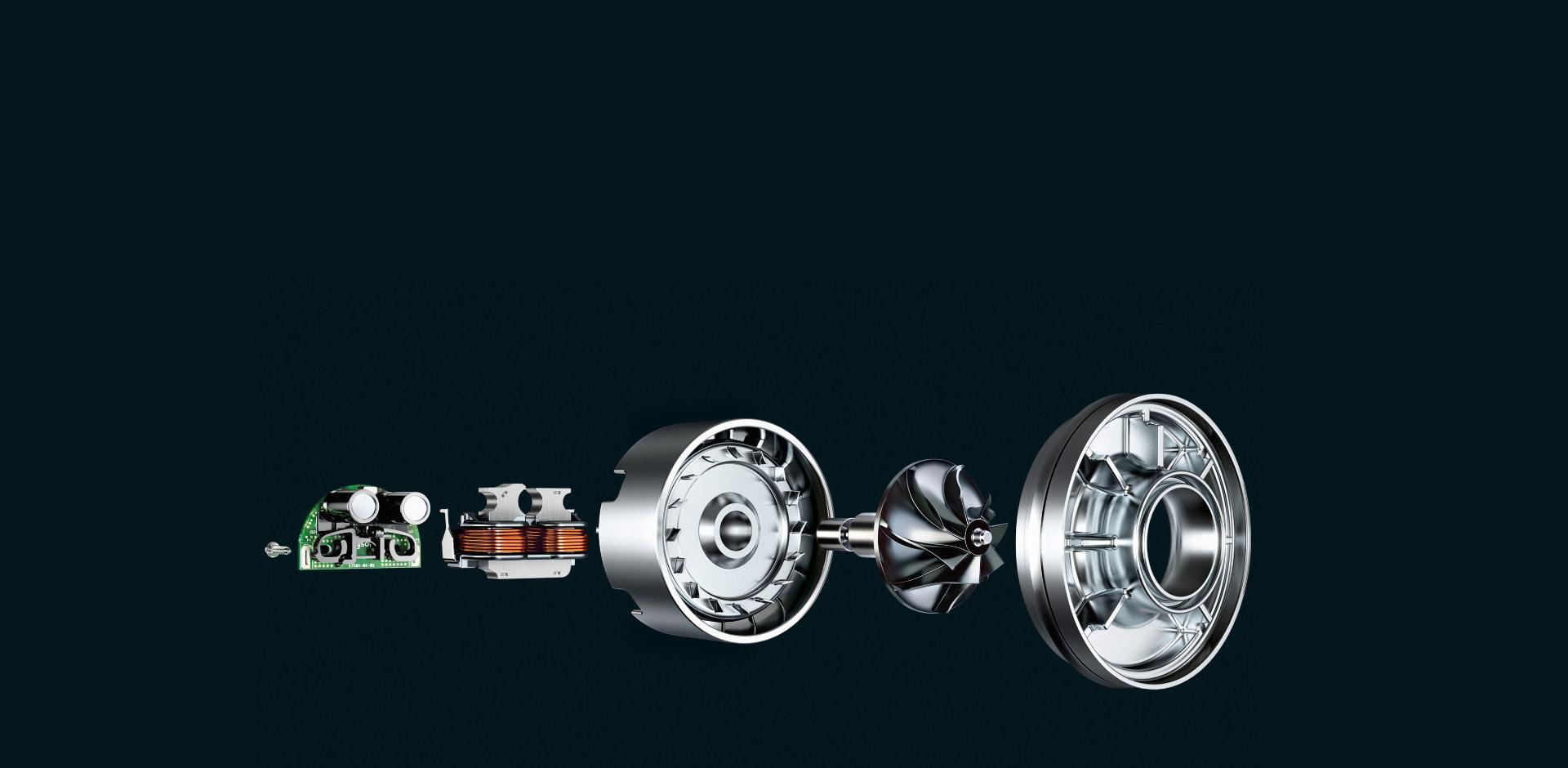 Robbantott motor ábrája