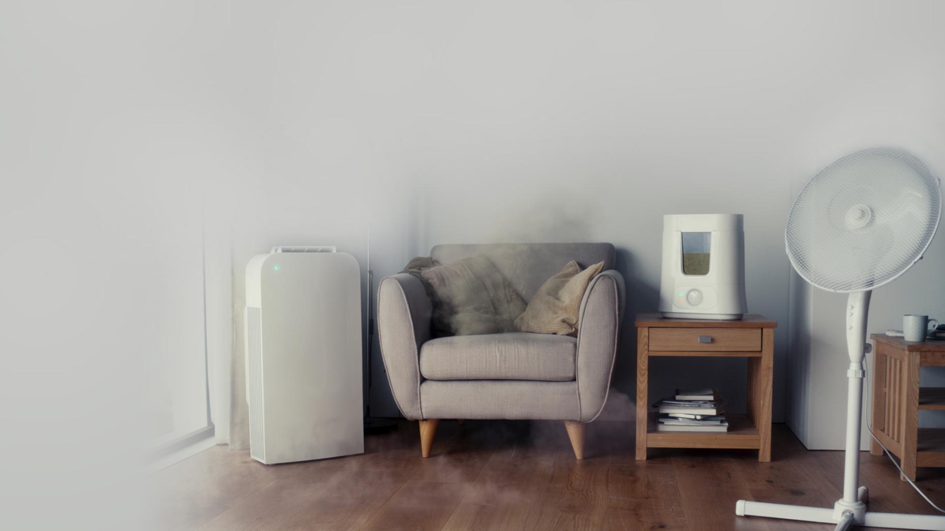 공기청정기, 가습기, 선풍기의 기능을 별도로 사용가능