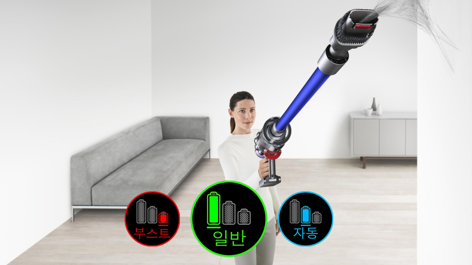 Woman cleaning ceiling with Dyson V11™ vacuum
