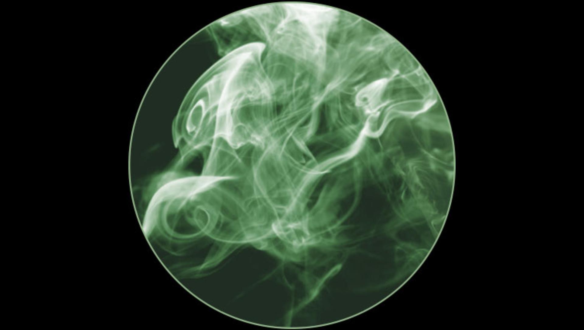 초미세 입자의 확대 이미지
