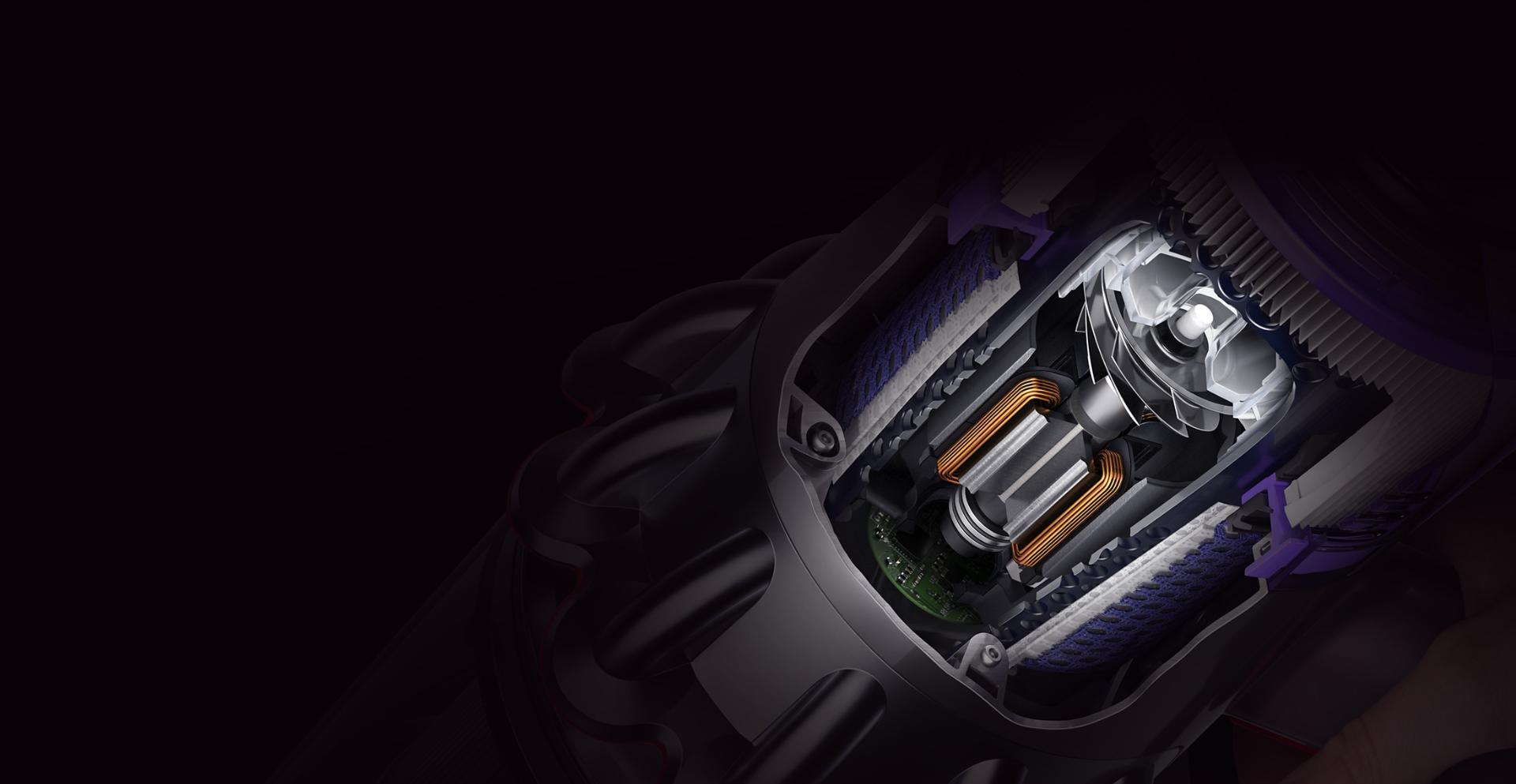 다이슨 디지털 모터 V11의 단면도