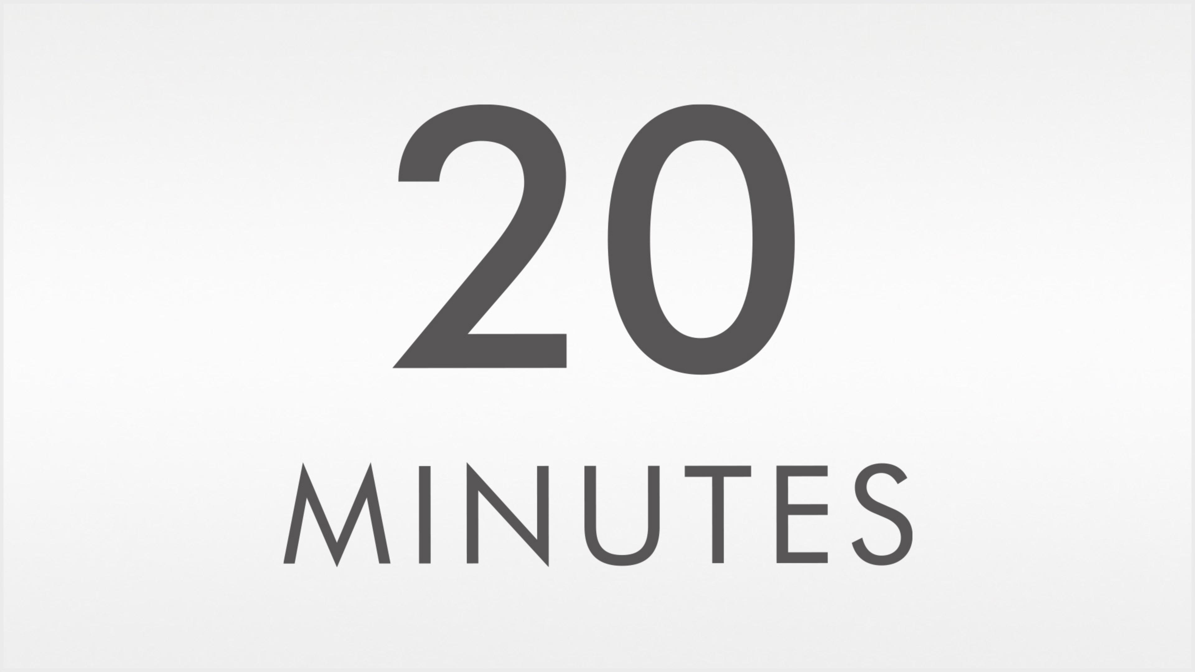 20-minute tun time image