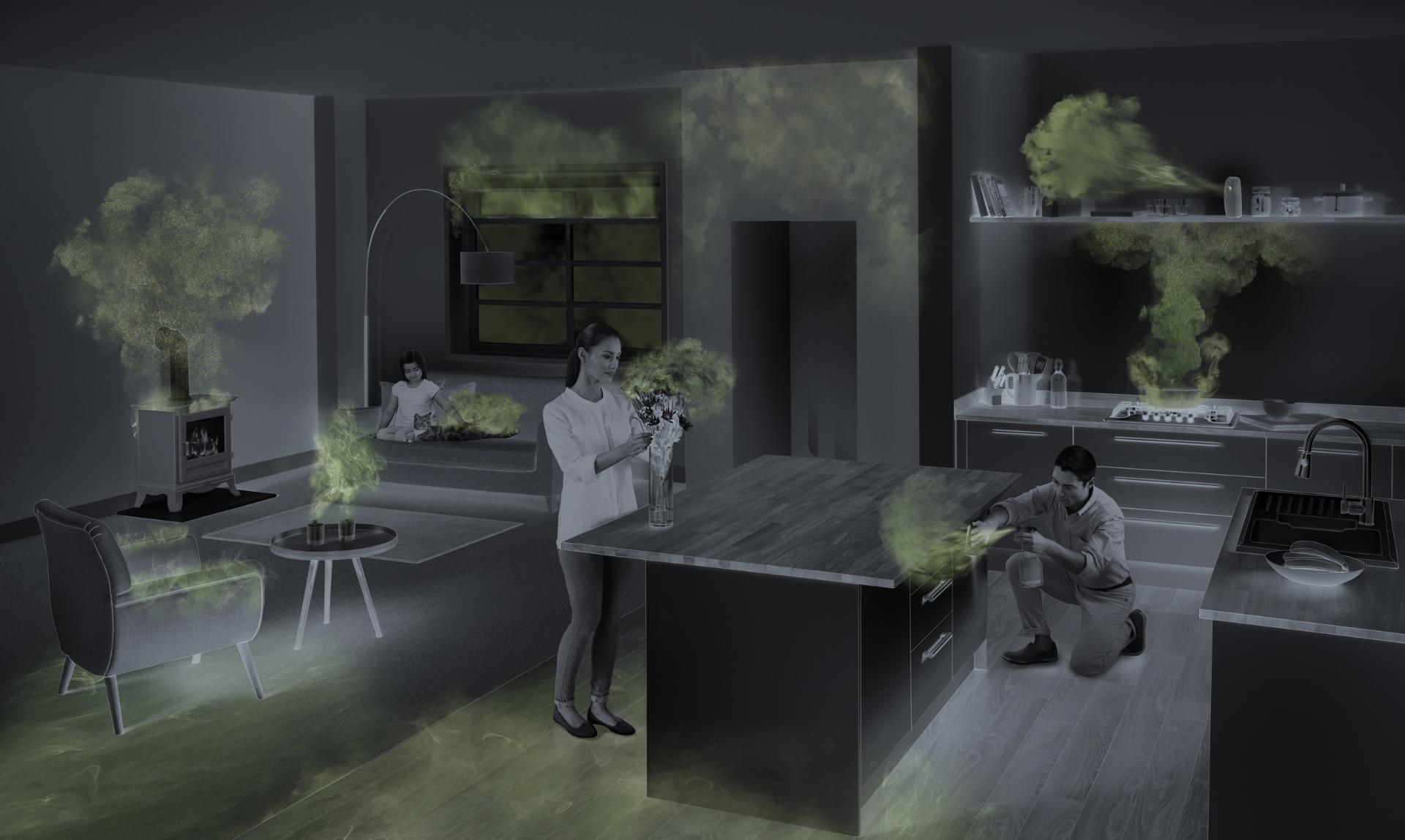 Image showing air pollution areas indoors