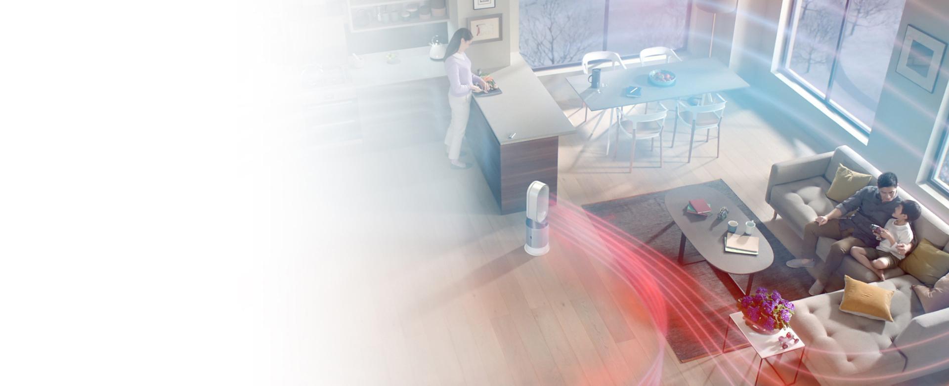 Doar aerotermele cu purificator purifică și încălzesc corespunzător o cameră întreagă