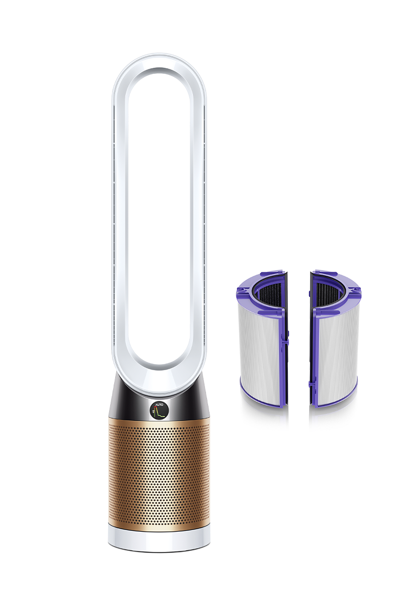 Dyson Pure Cool Cryptomic™ air purifier tower fan TP06 (White/Gold)