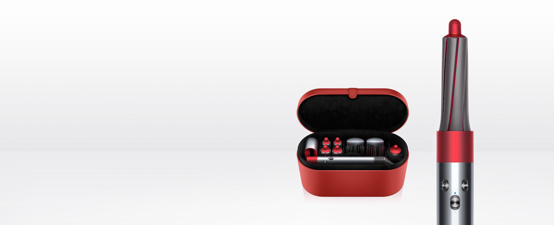 Dyson Airwrap styler iron red with presentation case