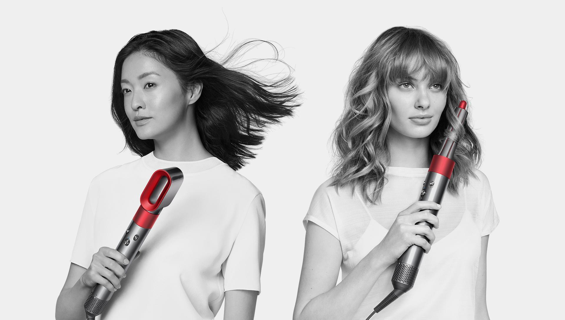Dyson Supersonic hair dryer and Airwrap styler red