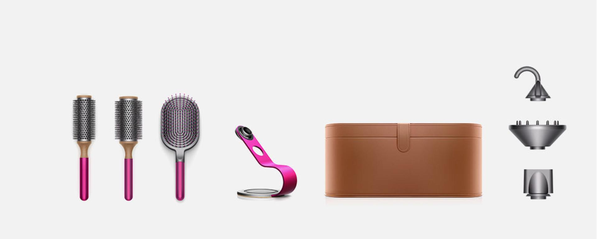 Images of all the Dyson Supersonic styling attachments