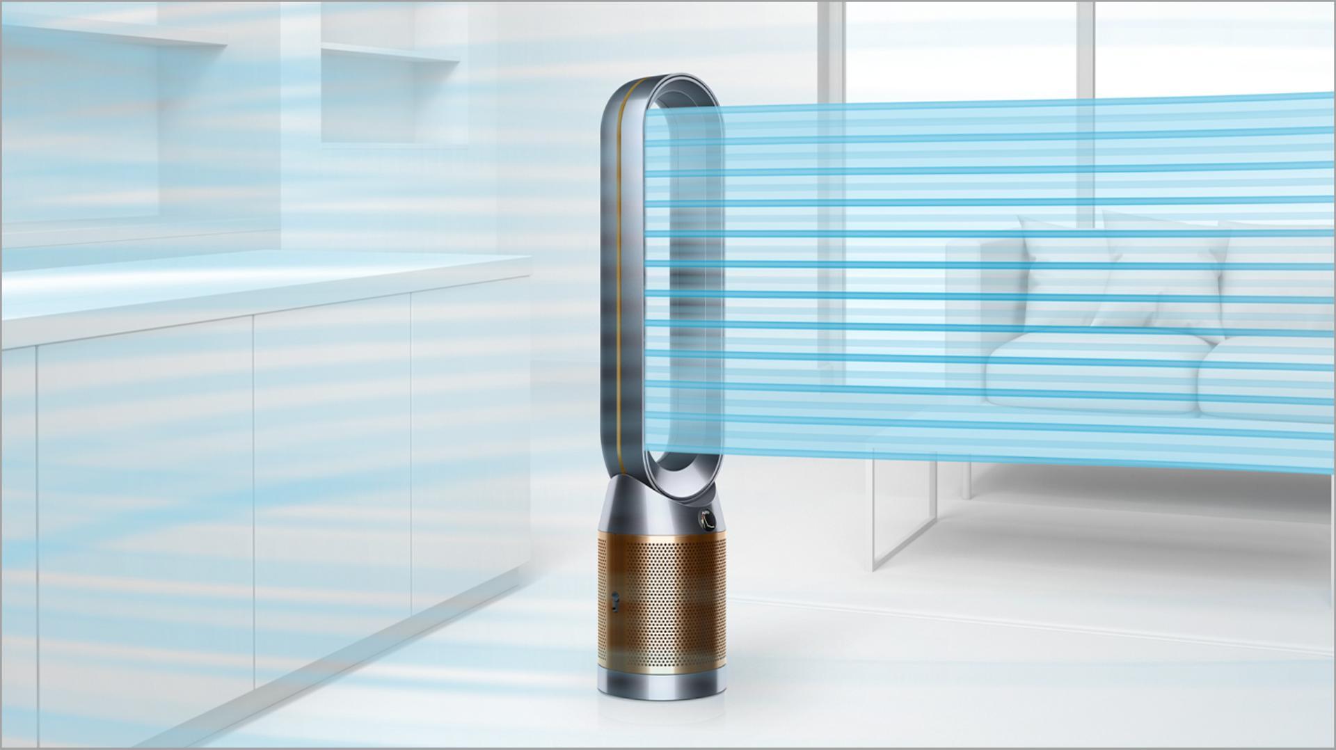พัดลมฟอกอากาศแบบตั้งพื้น Dyson Pure Cool Cryptomic™ TP06