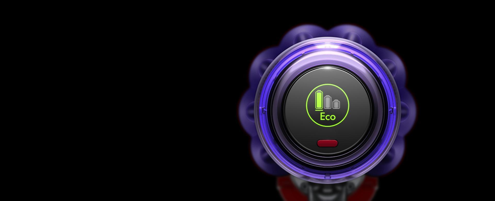 Hình ảnh màn hình hiển thị chế độ Eco.