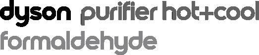 Dyson purifier hot+cool formaldehyde logo