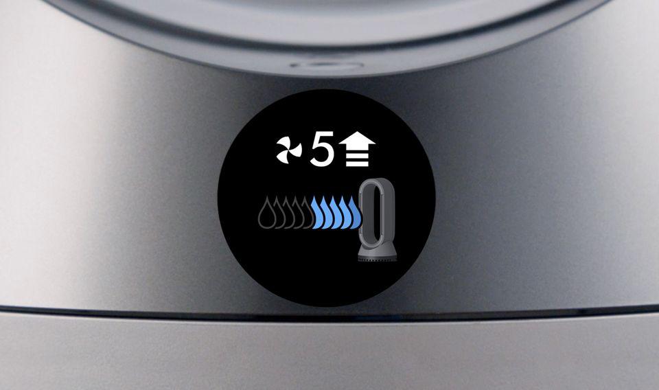 LCD 아이콘에 따라 풍량을 높이시오.
