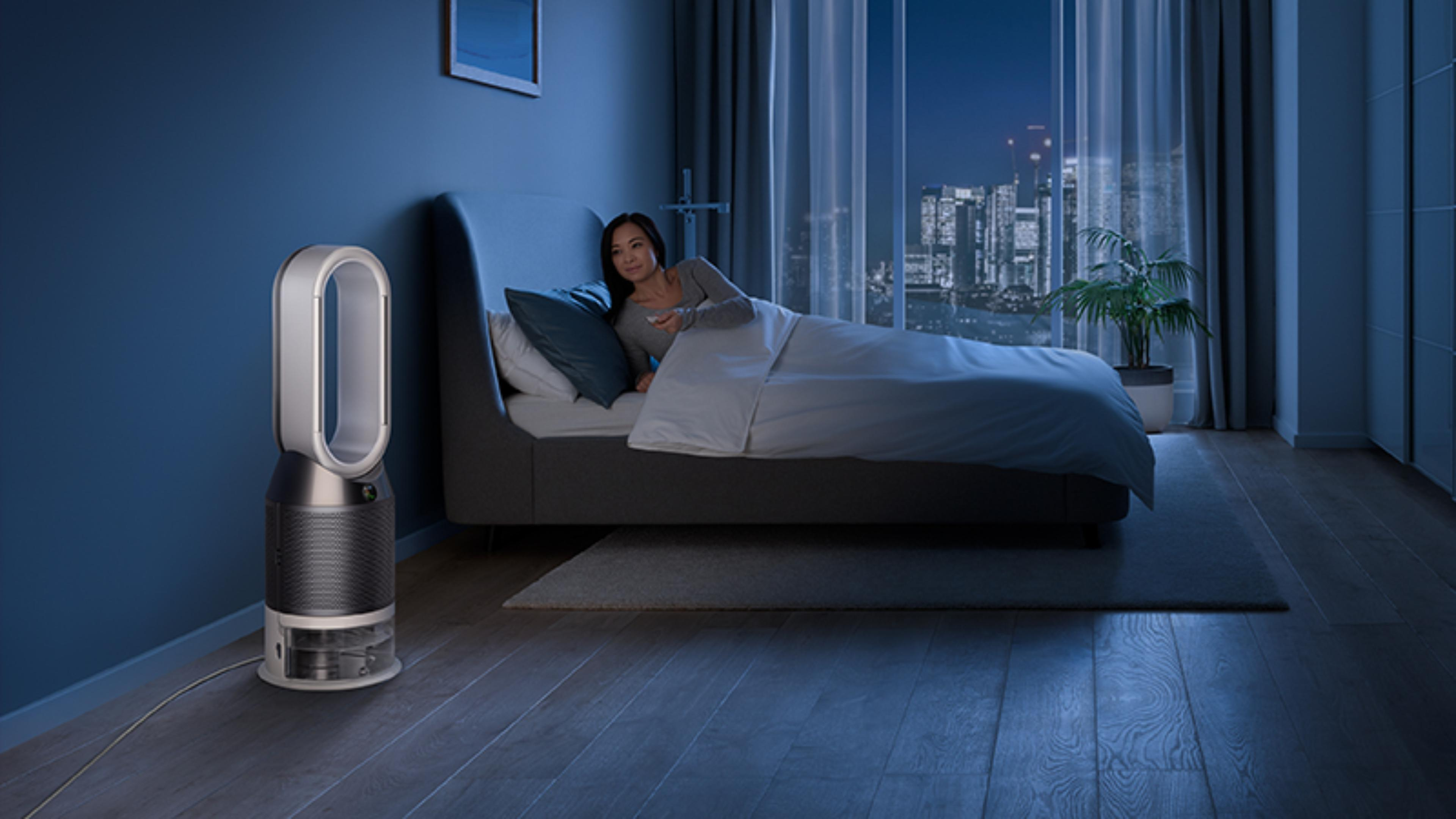 Dyson purifier humidifier in Night mode