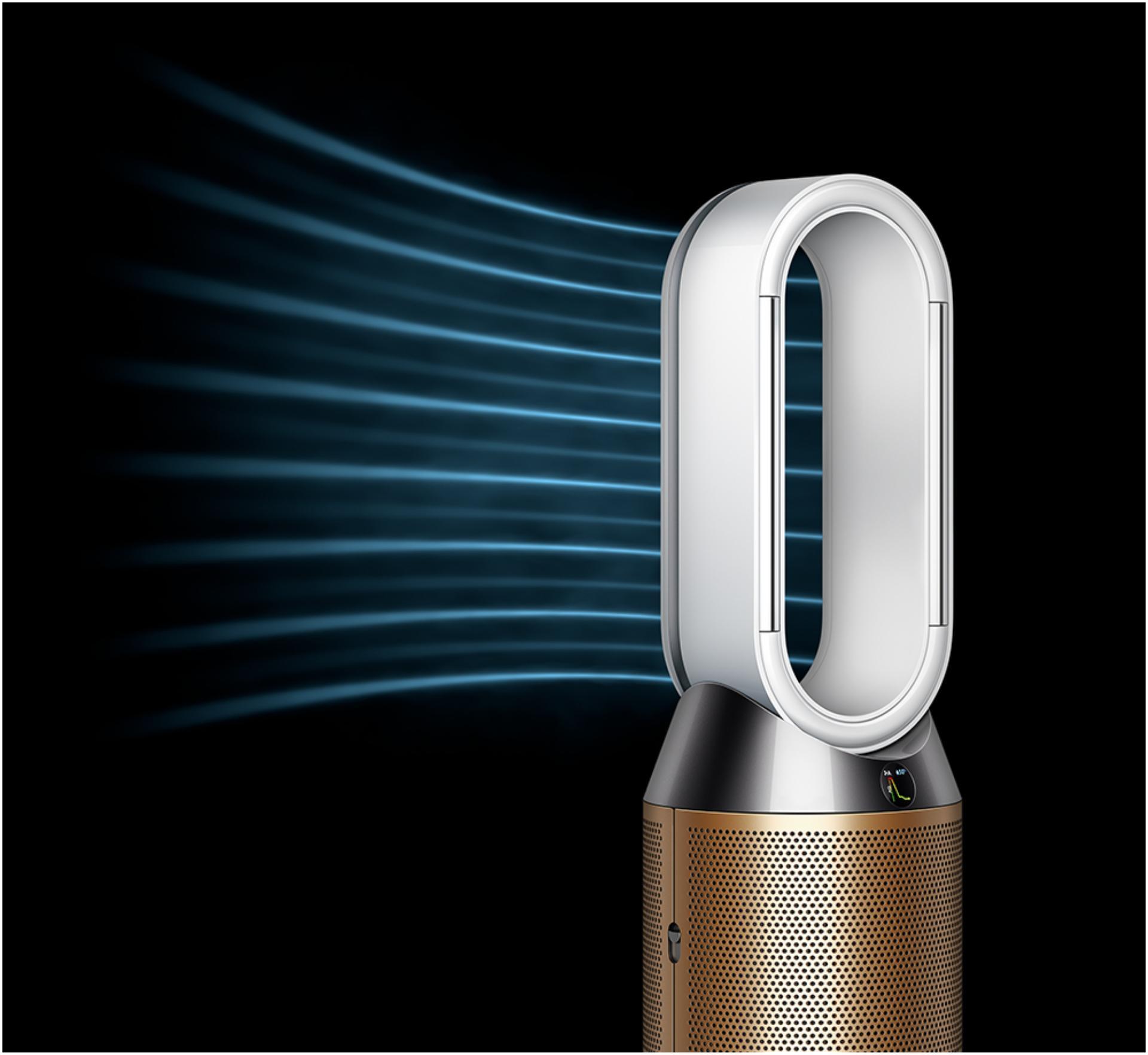 바람 방향 전환 모드로 작동하는 다이슨 가습 공기청정기