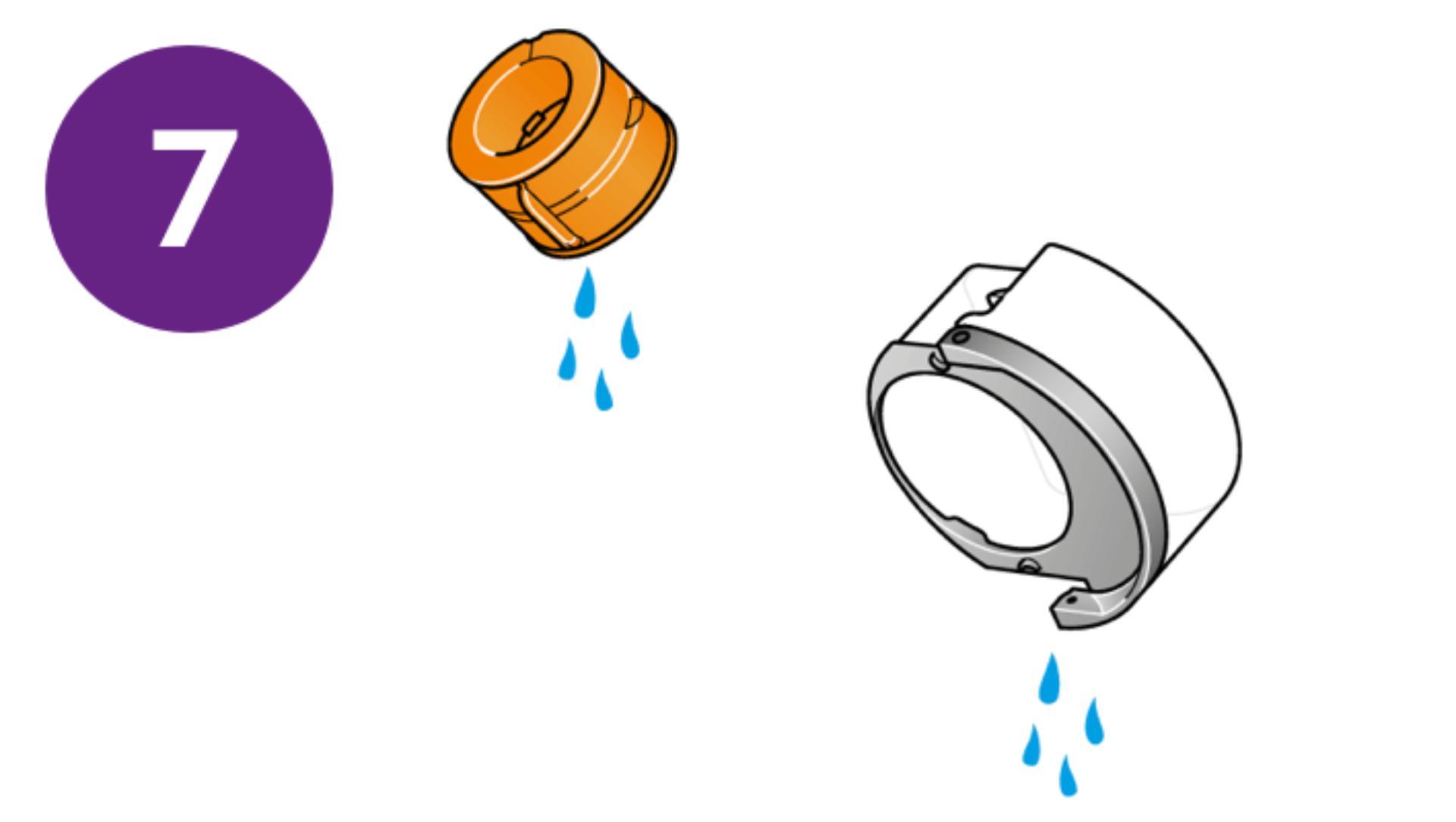 Napełnij zbiornik zimną wodą