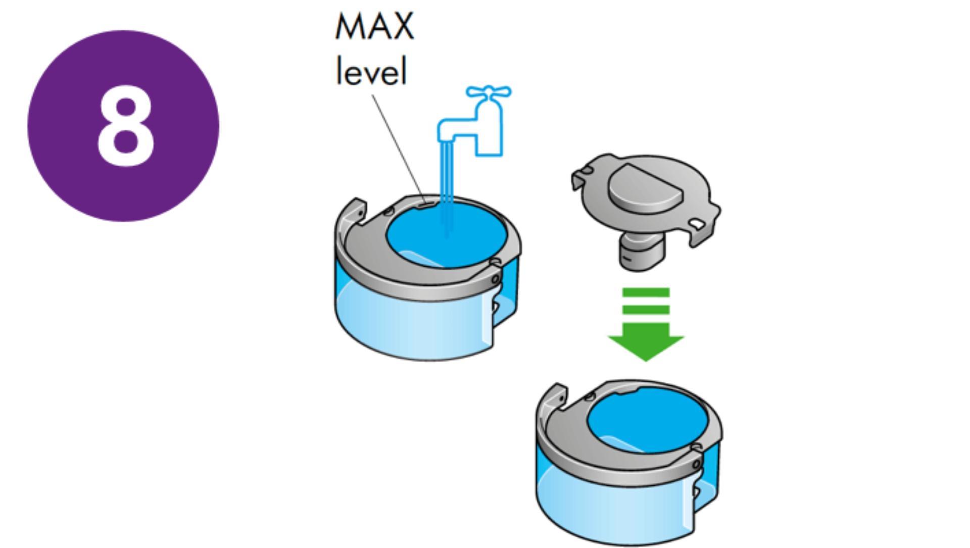Opłucz dysk ewaporacyjny i zbiornik na wodę