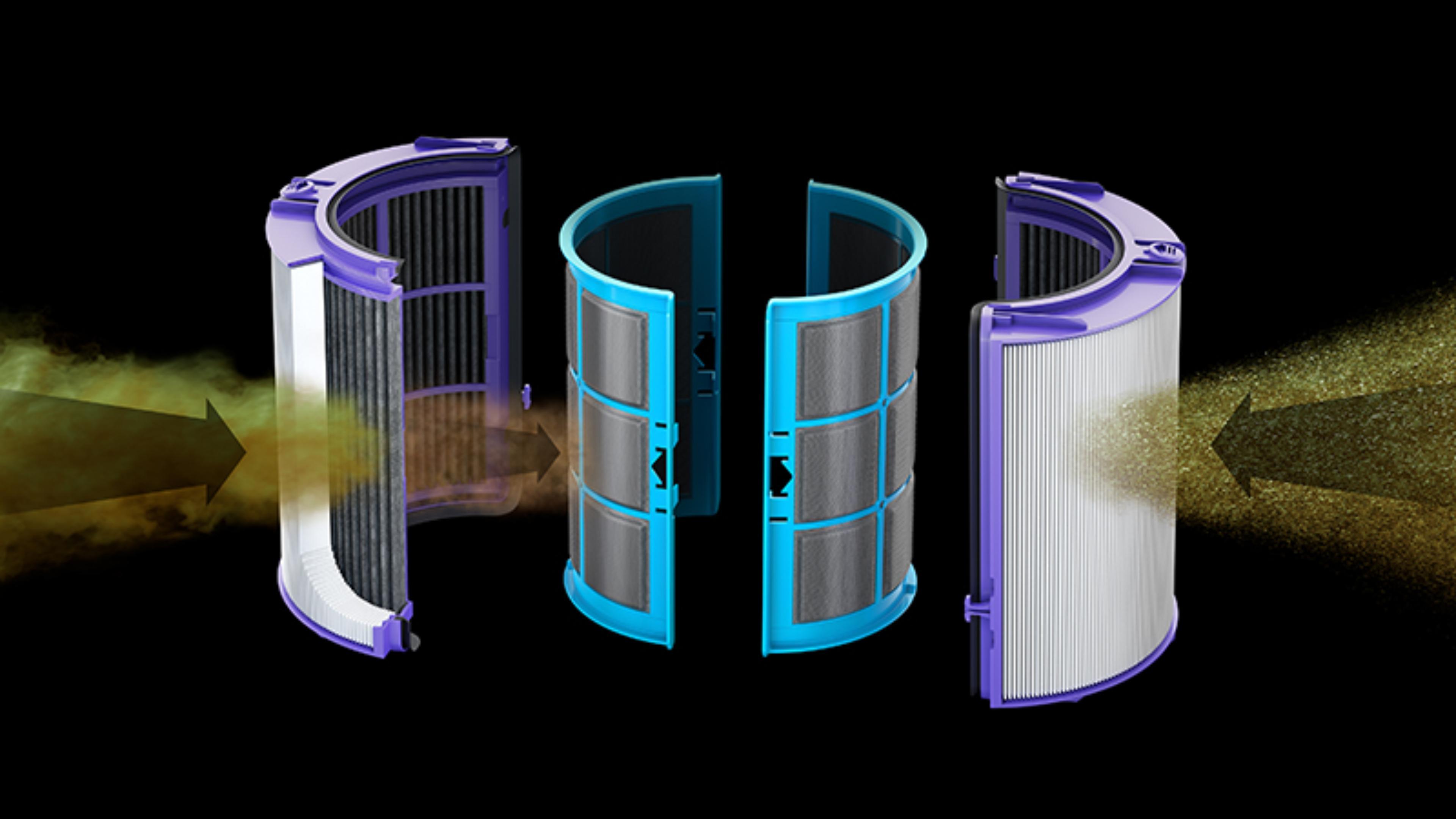다이슨 헤파 필터와 활성 탄소 필터