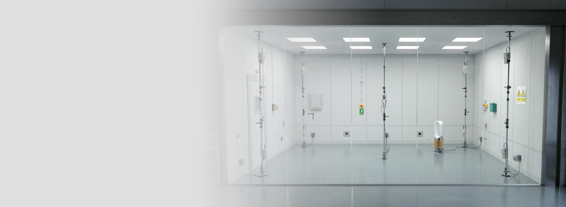 Oczyszczacz z funkcją nawilżania Dyson wewnątrz komory z dziewięcioma czujnikami