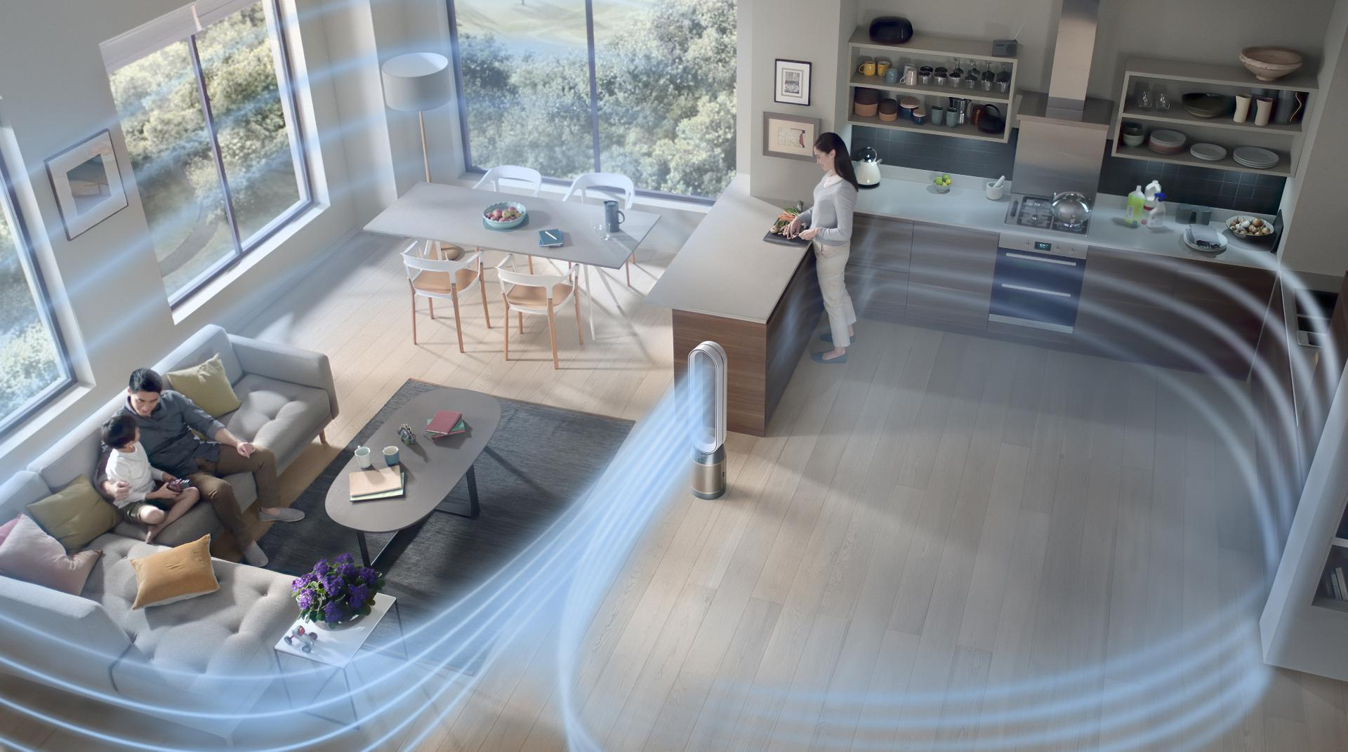 Dyson purifier cool formaldehyde purifying a large living space