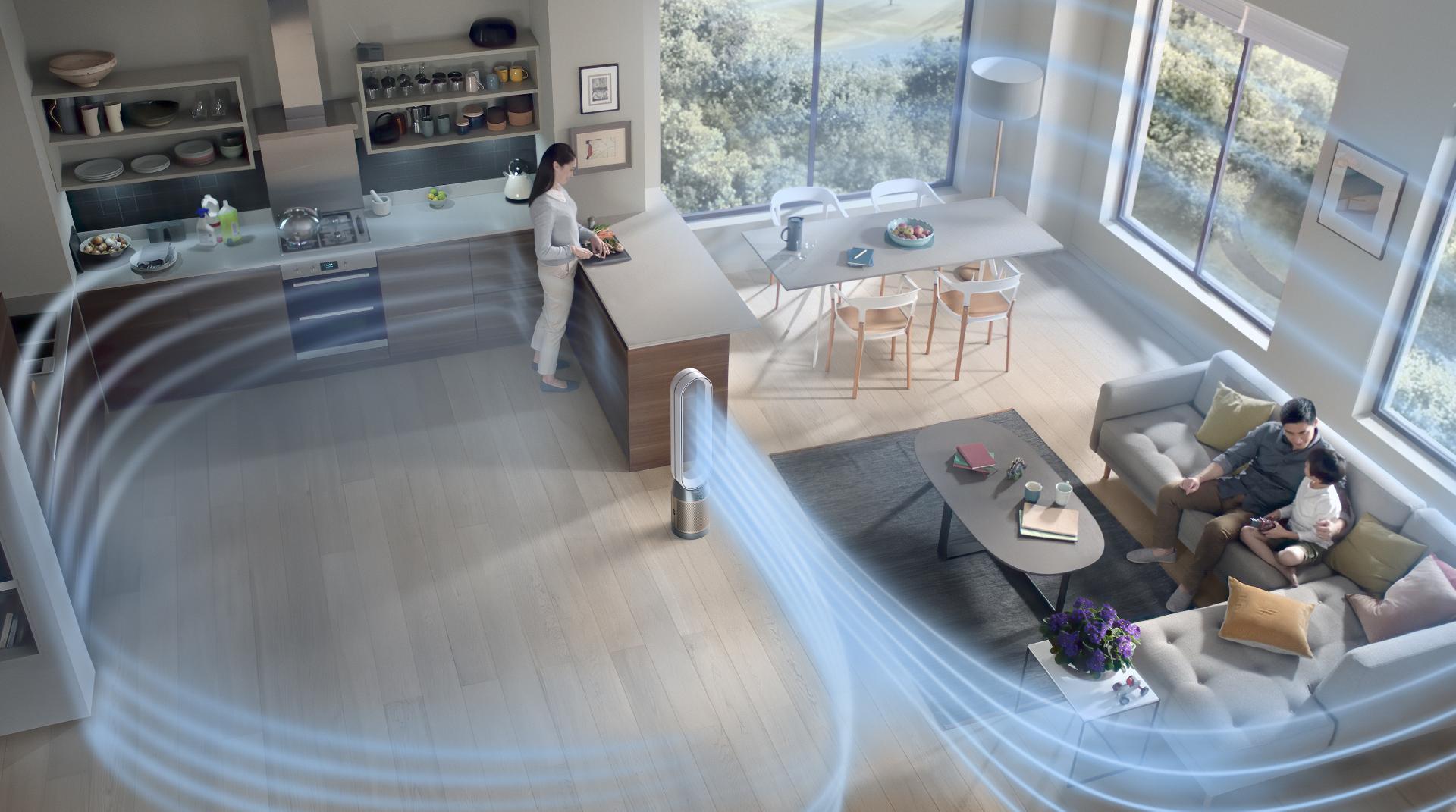 Dyson purifier cool formaldehyde air purifier fan purifying a large living space