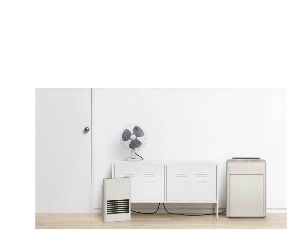 A fan, a heater and a purifier
