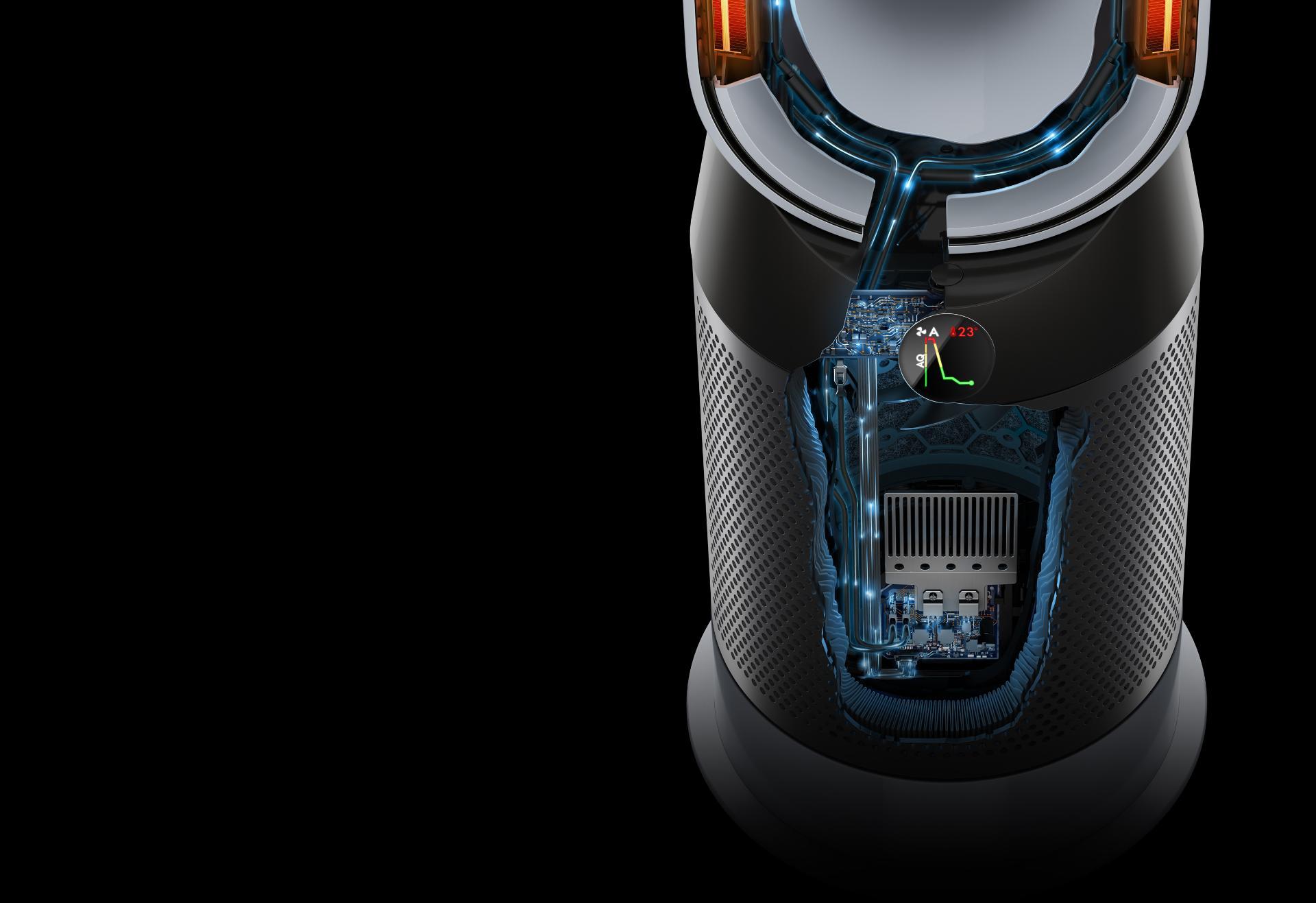 Looking inside the Dyson Pure Hot+Cool purifier fan heater