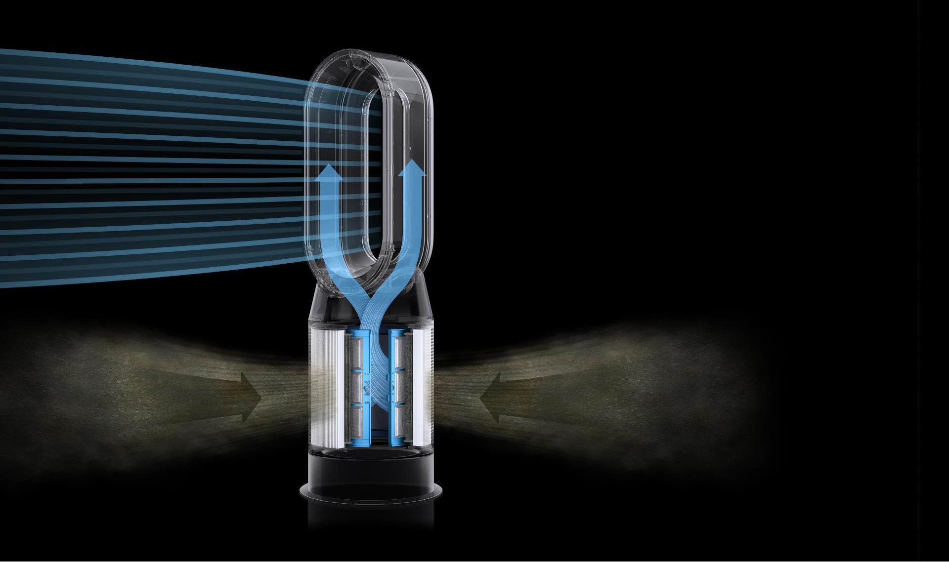 رسم يوضح جهاز تنقية هواء مُحكَماً تماماً