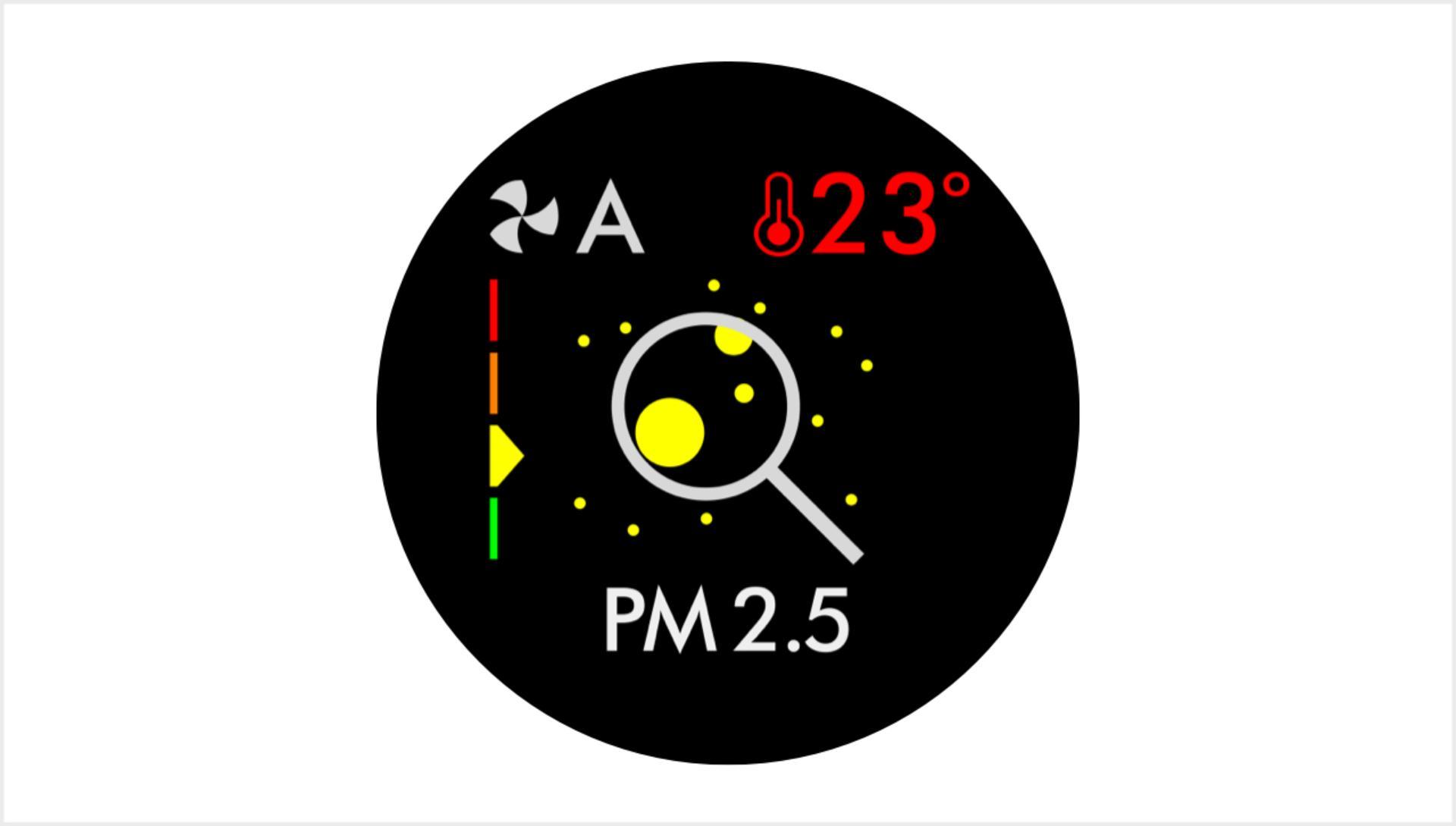Particulate matter PM2.5 screen