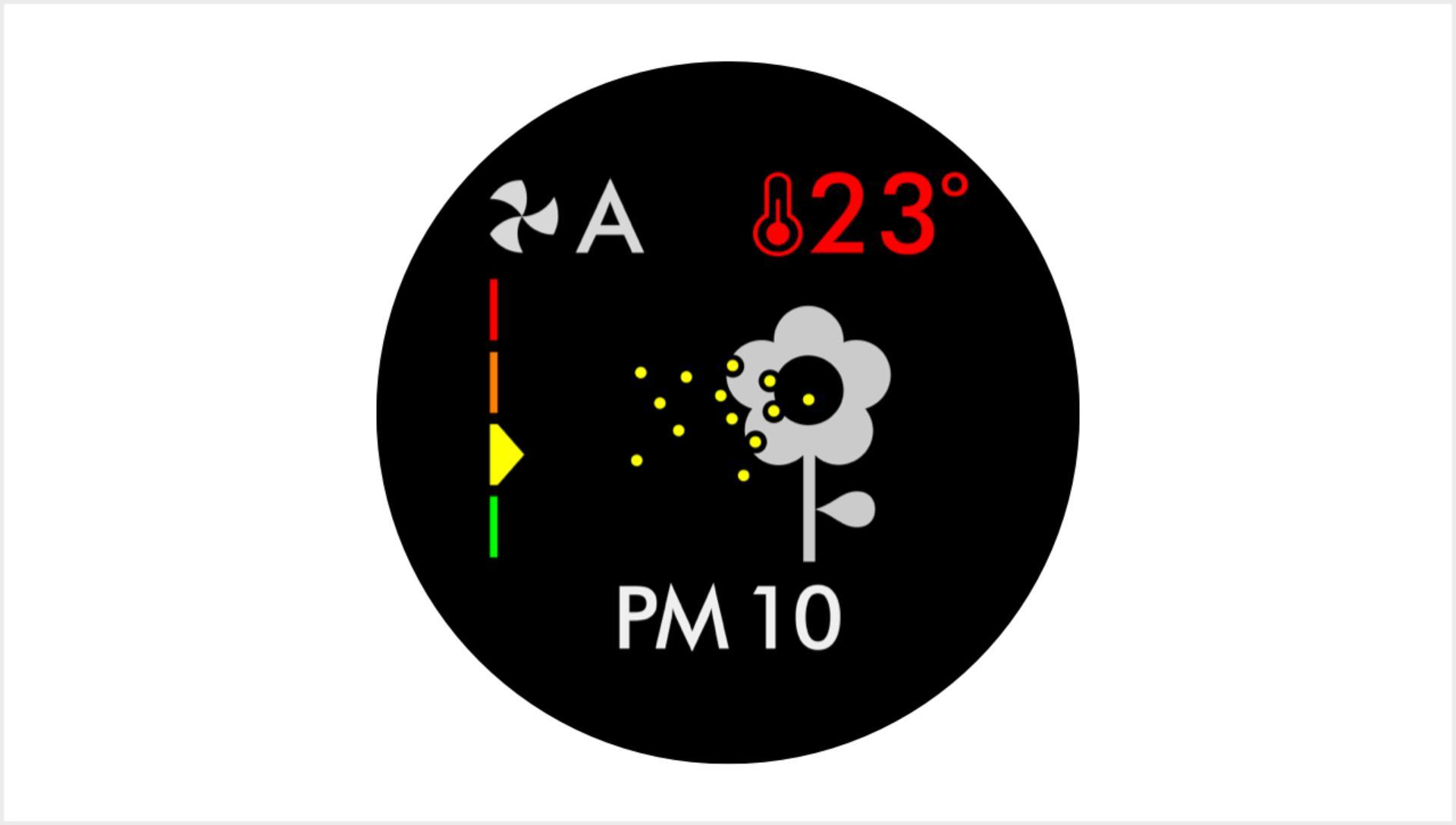 Particulate matter PM10 screen