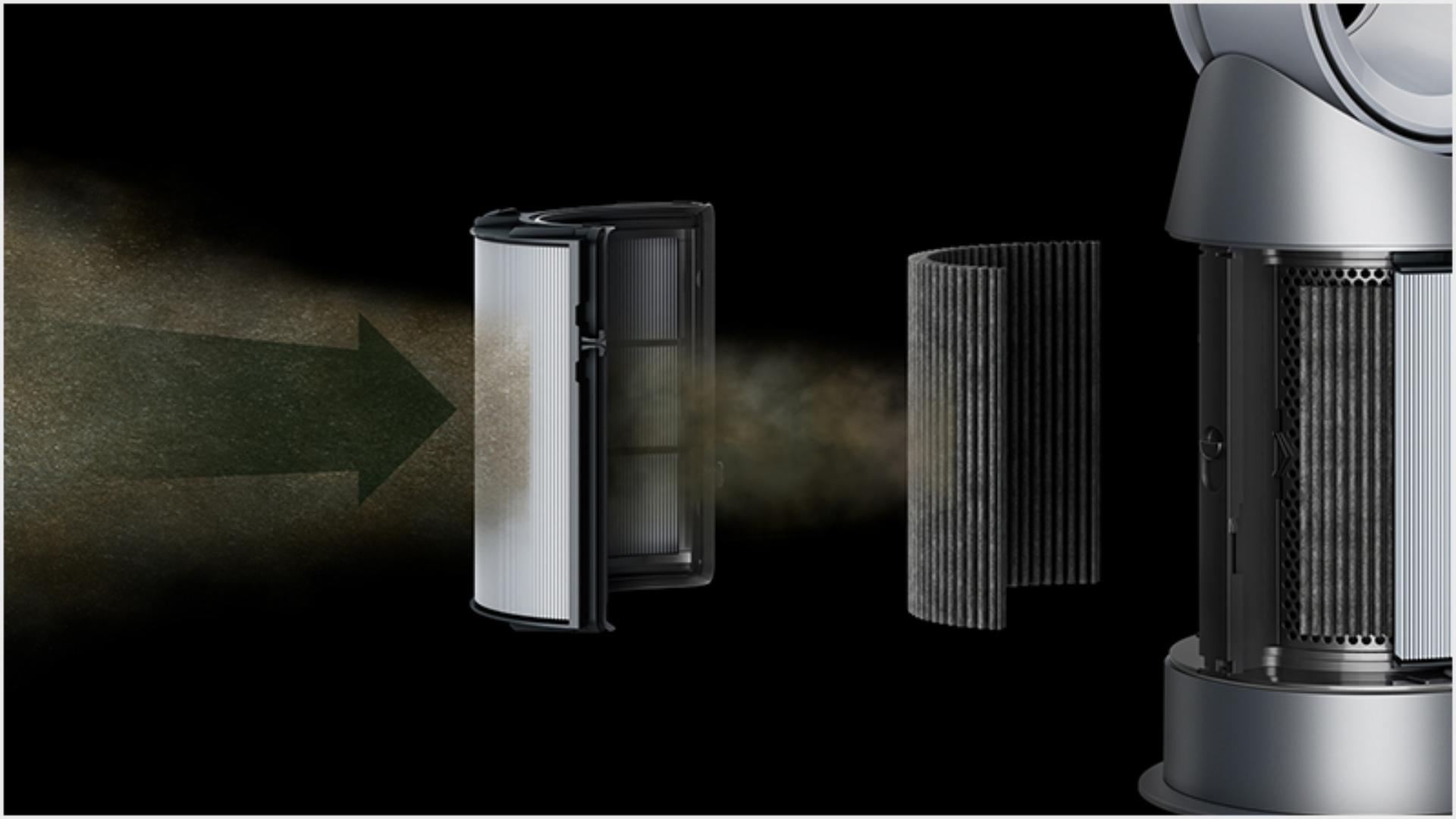 Air cleaners with vacuum-sealed 360° H-13 Glass HEPA and activated carbon filters