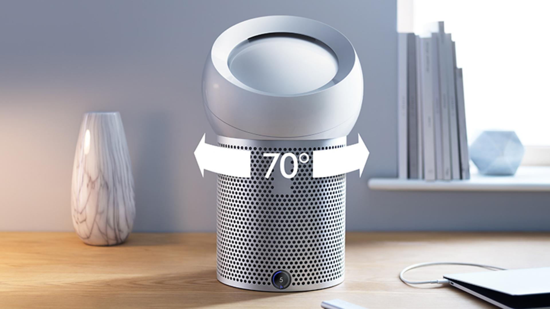 70˚ oscillation with Dyson Pure Cool Me™ personal purifying fan