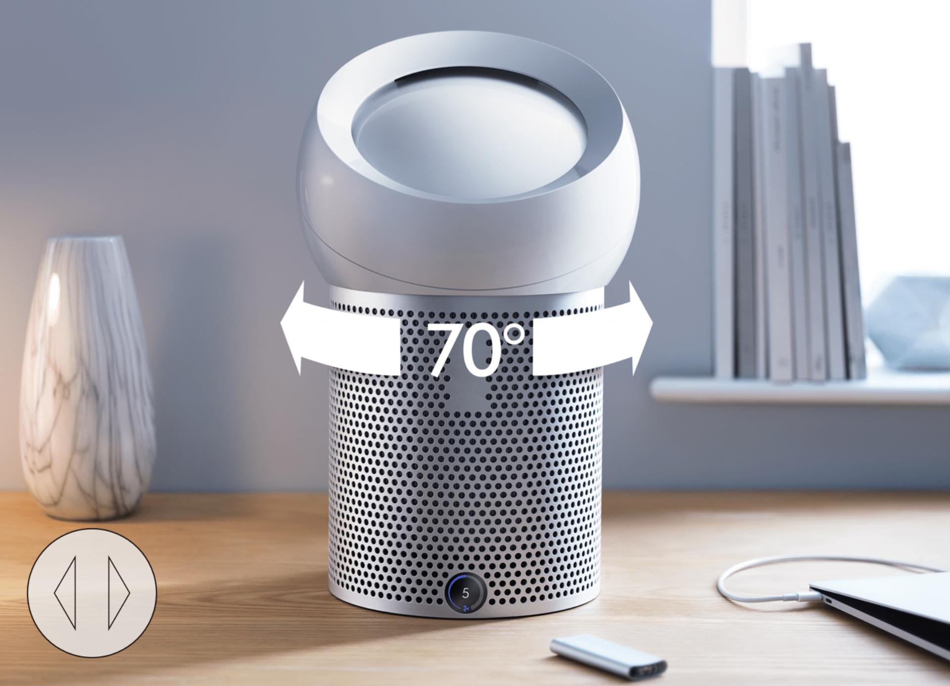 Dyson Pure Cool Me™ 70˚ oscillation