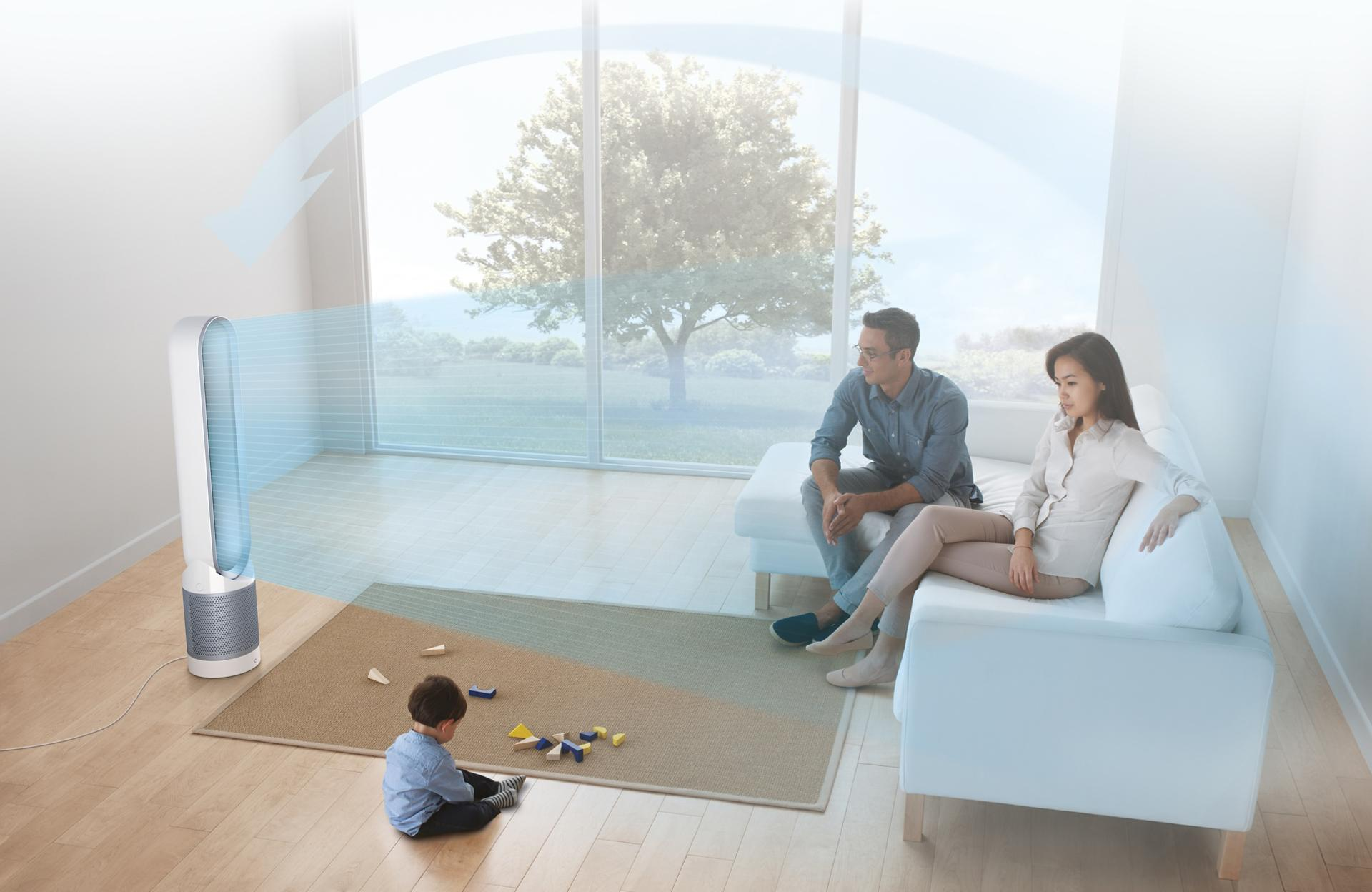 Family room with Dyson Pure Cool™ purifier