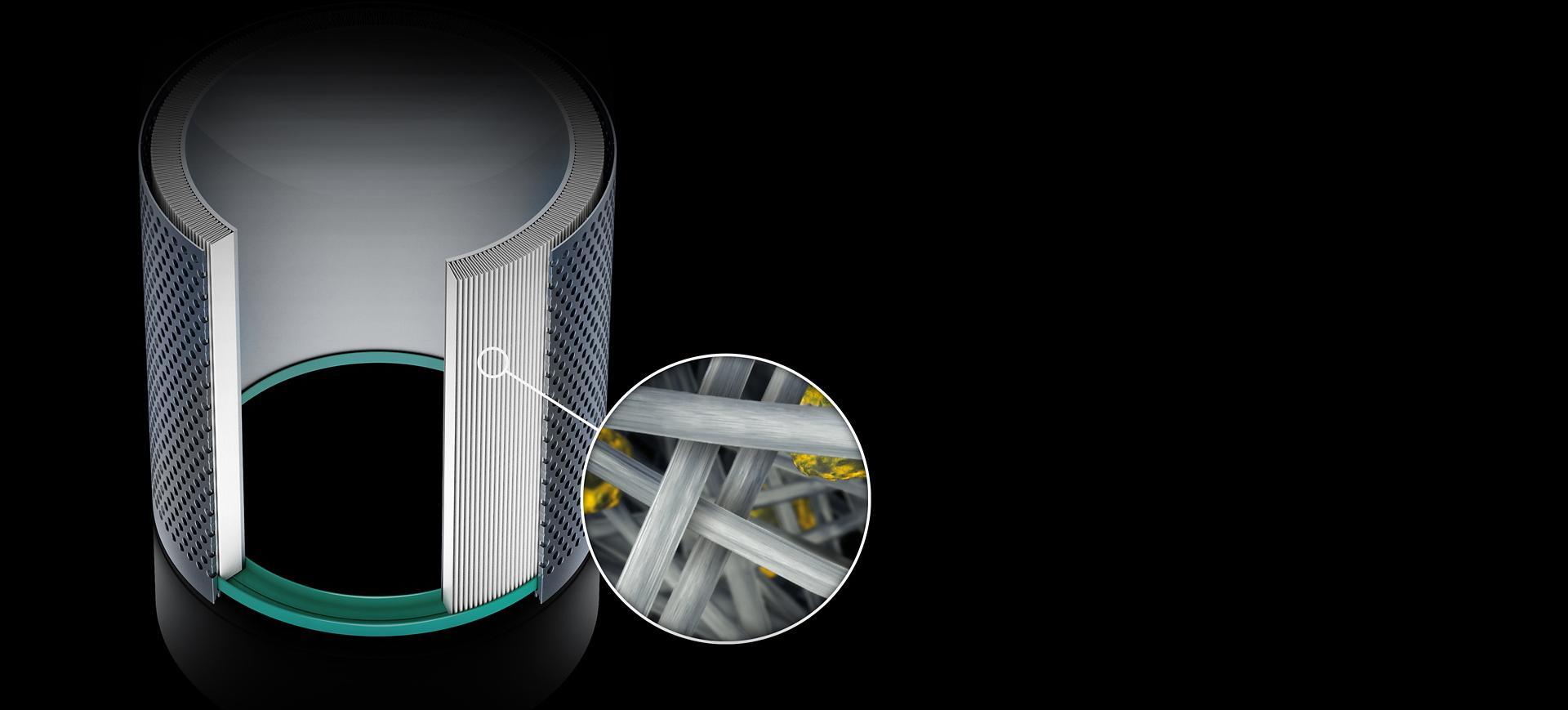 X-ray image inside HEPA borosilicate filter